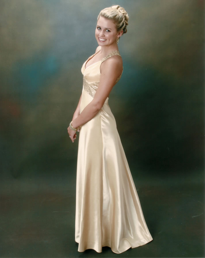 Portrait Painting BlogYoung Woman in a Gown - Portrait Painting Blog