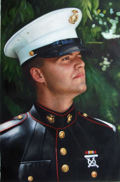 military portrait painting service